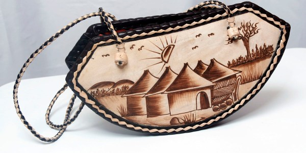 Handmade African Leather Bag - Hut