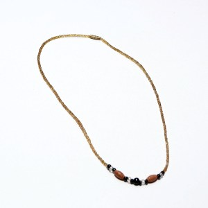Golden Thin African Beaded Necklace