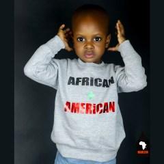 Unisex African + American Crewneck Sweatshirt Green – Kids