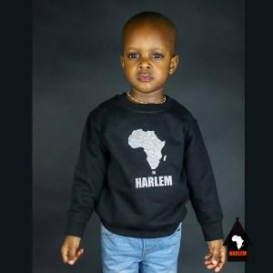 Unisex Africa in Harlem Crewneck Sweatshirt Silver