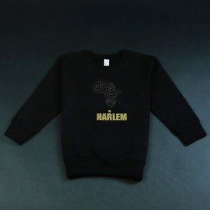 Africa in Harlem Crewneck Sweatshirt Black & Gold