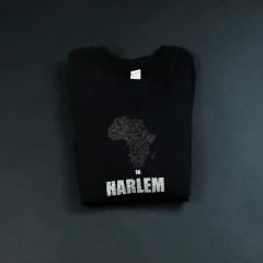 Africa in Harlem Crewneck Sweatshirt Black & silver