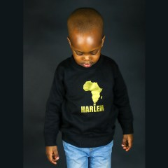 Unisex Africa in Harlem Crewneck Sweatshirt Gold – Kids