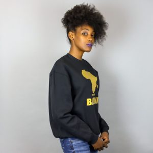 Unisex Africa in the Bronx Crewneck Sweatshirt Gold