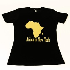 Africa in New York T-shirt Gold Original – Women