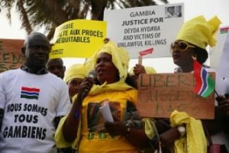 Manifestazione Gambia