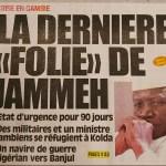 Prima pagina Jammeh