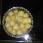 Corn and Banana Dumplings - frying