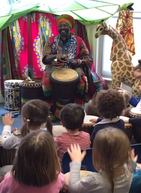 African drummers for primary schools