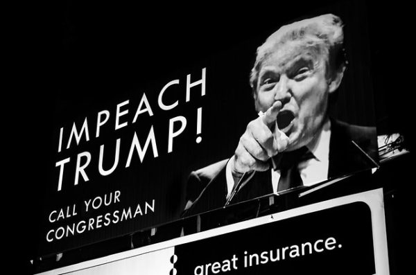 "Photo of an ""Impeach Trump"" billboard"