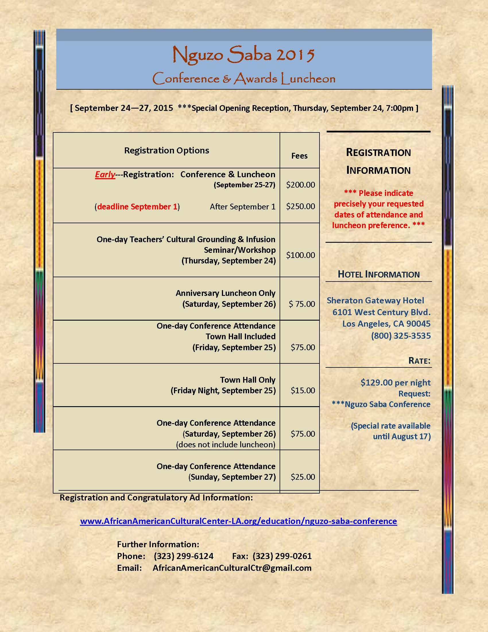 Nguzo Saba Conference