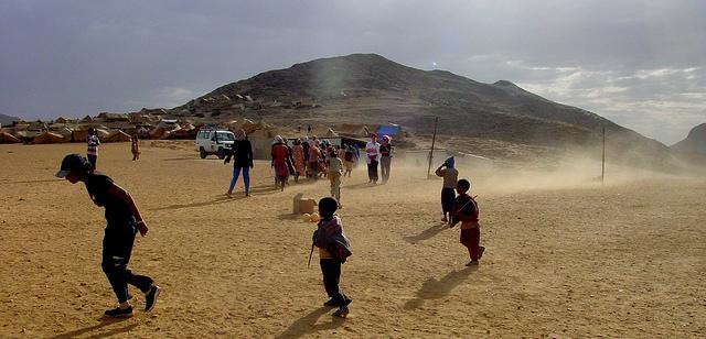 At a refugee camp near the Eritrea-Ethiopia border. Credit: Roberto Maldeno.