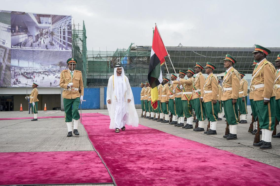 The UAE's Sheikh Mohammed bin Zayed, Crown Prince of Abu Dhabi, visiting Addis Ababa. Credit: Crown Prince Court, Abu Dhabi.