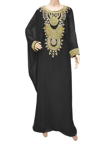 Indian Hand Made Golden Beaded Work Dress for Women