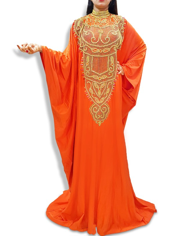 Long Sleeve Lycra Plus Size Beaded Moroccan kaftans african dresses for women