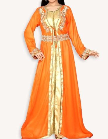 Latest African Designer Jacket Dubai kaftan With Front Slit Wedding Dress For Women's