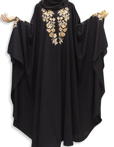 Ladies Islamic Farasa Designer Soft Nida Fabric Embroidery Dubai Abaya for women
