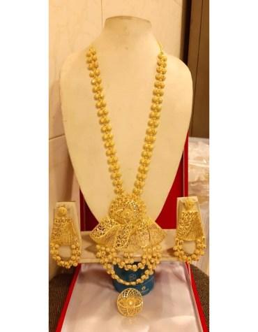 Ajit party weddings choker gold Jewellery set