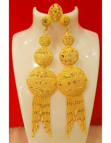 2020 Best Designer Golden Plated Earring Set for Woman