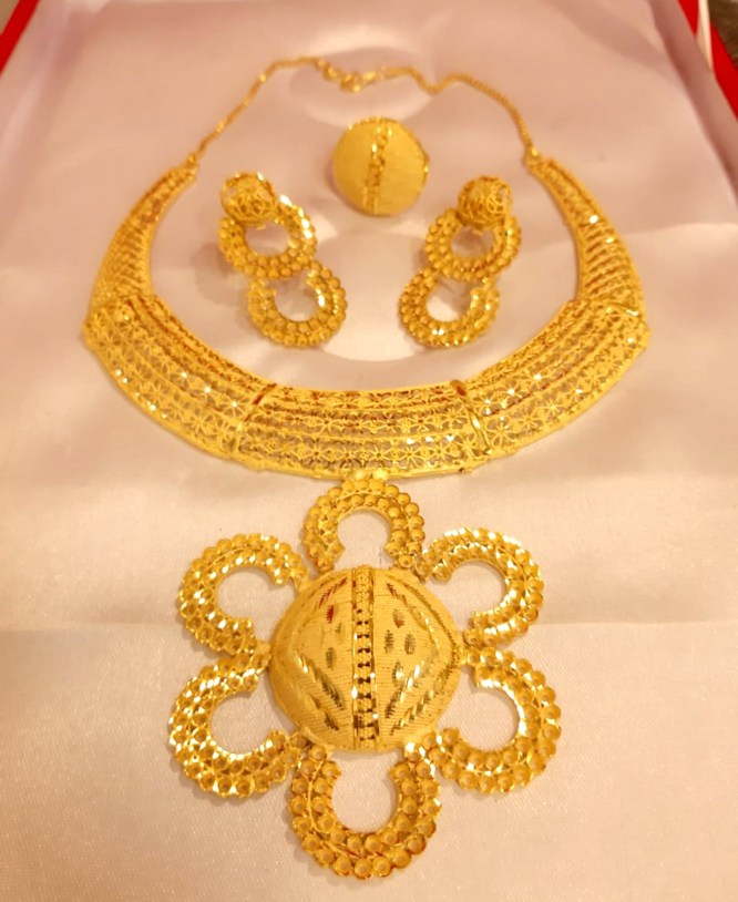 Beautiful Tououral Neckles Set golden plated