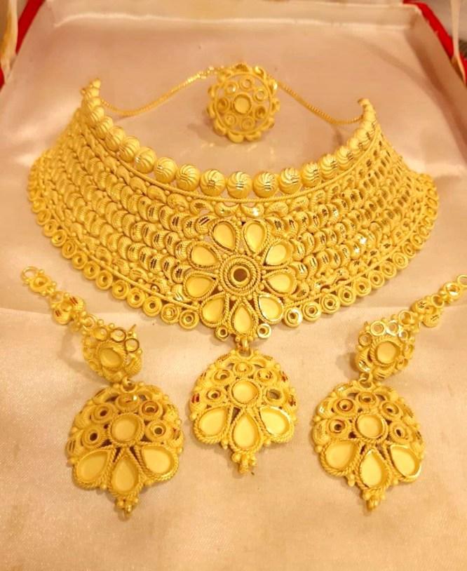 Arabic Stylish Party Wear Necklace Earring Set Ethnic Jewelry for Women