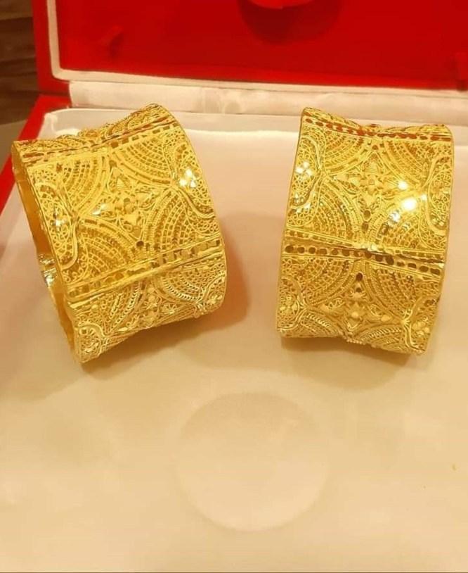 African Designer Golden Plated Couple Bangle 2 Gram