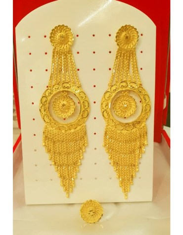 2020 New Best Designer Golden Plated Earring Set