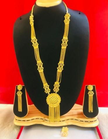 Designer Short Stylish Gold Plated Necklace Set
