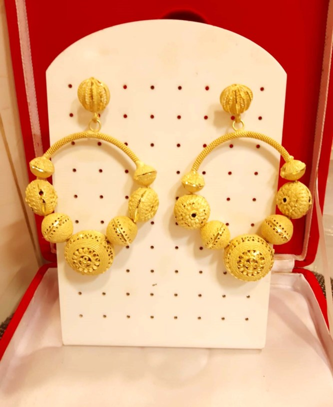 African Best Earring For Women Golden