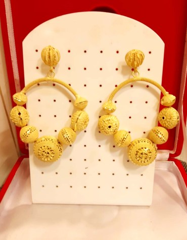 African Best Earring For Women Golden