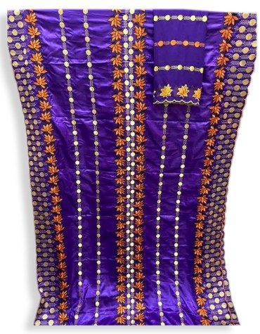 African Purple New Designer Hand Work Dubai Dresses for Women