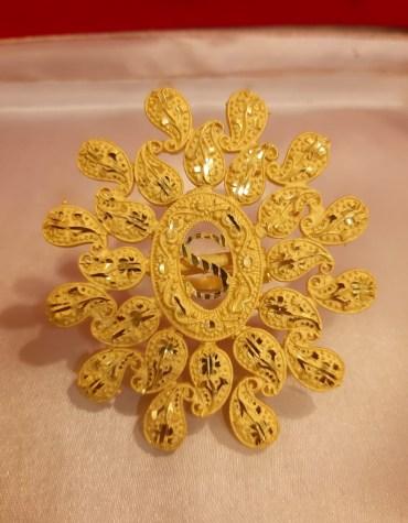African Boutique Gold or femme Dubai Finger Ring