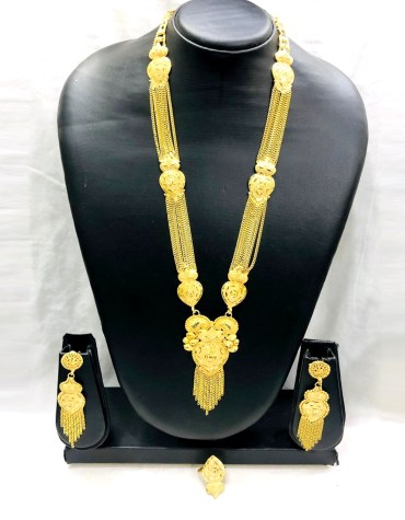 African 2 Gram Gold Neckalce matching Stylish party Neck Golden