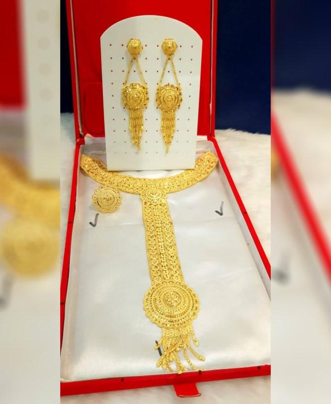 African New Trendy Designer Gold Jewellery Set For Women