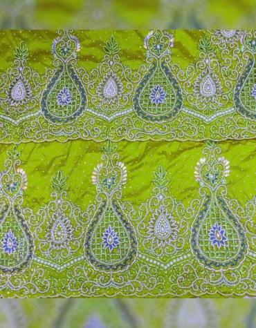 Beautiful Elegant Nigerian Bridesmaid Beaded Wrapper Taffeta George Fabric Dress Material
