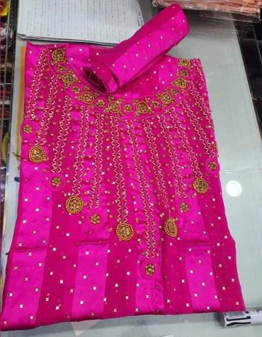 Trendy African Attire Designer party Women Wear Satin Silk Dress Material for Women