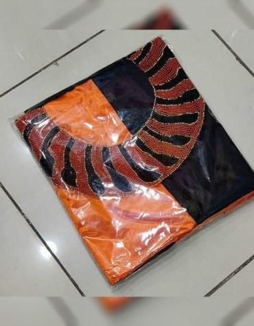 Latest Attire Formal Evening Beaded Satin Silk 2 Color Satin Silk Dress Material For Women