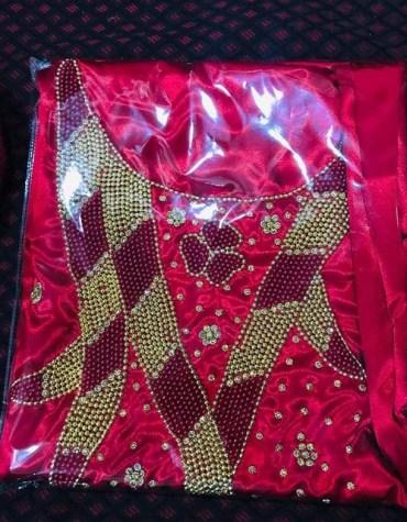 Latest African Attire Designer For Wedding Satin Dresses Material Fancy Wear For Women