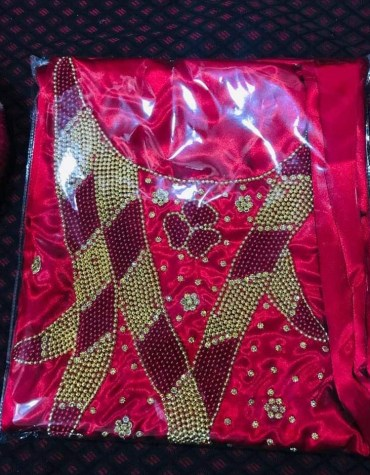 Latest African Attire Designer For Wedding Satin Dresses Material Fancy Wear For Women
