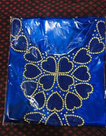 Premium African Attire Designer For Wedding Satin Dresses Material Fancy Wear For Women