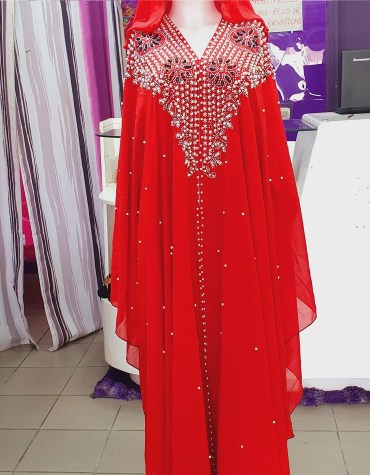 New African Attire With Long Sleeve Designer Party Wear Evening Abaya Dresses for Women