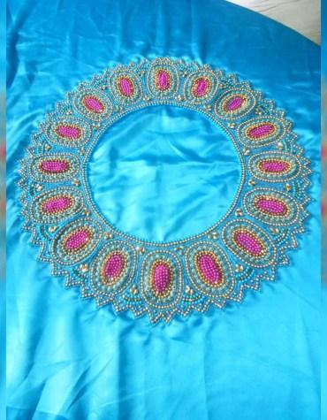 Traditonal Famous Attire Designer Satin Silk Fancy Party Wear Dress Material For Women