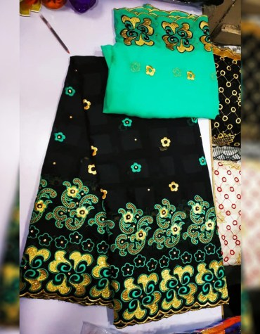 Unique Fancy Swiss Voile Designer Cotton Piece Dubai Embroidery Dress Material