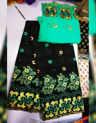 Unique Fancy Swiss Voile Designer Cotton Piece Dubai Embroidery Dress Material For Women
