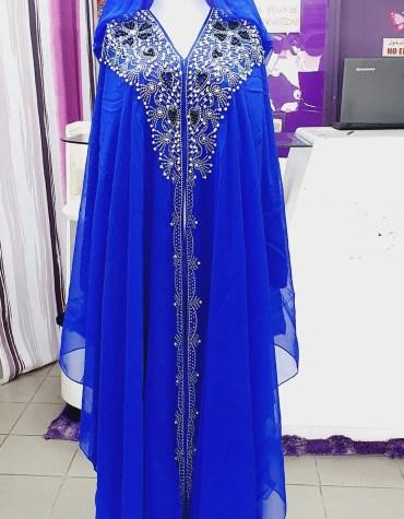 Premium Design Rhinestone Work on Dress For Women Party Wear Dubai Kaftan Hoodies