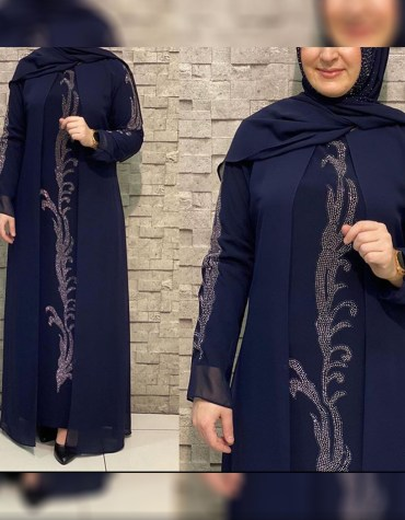 New Designer Attire African Black Moroccan With Beaded Trendy Party Abaya For Women