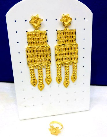 Latest Designer African Evening Party Wear Earing Jwellery Set for Women