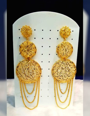 Latest trendy african 2 Gram Gold Plated Earing jewllery set for women
