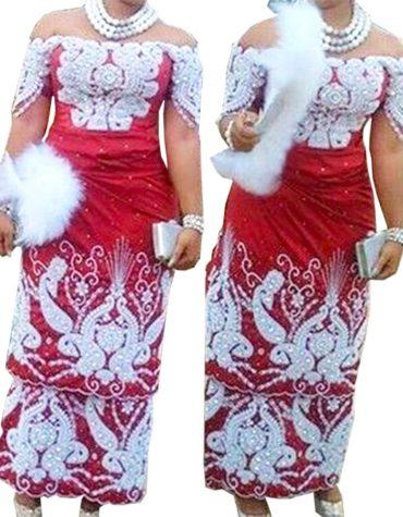 Nigerian Machine Embroidered Milk White Hand Work Raw Silk George Fabric