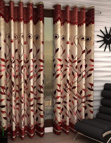 Home Sizzler Pieces Polyester Blend 9 Feet Long Door Curtains